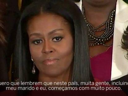 """Michelle Obama em sua despedida: """"A diversidade não é uma ameaça"""""""