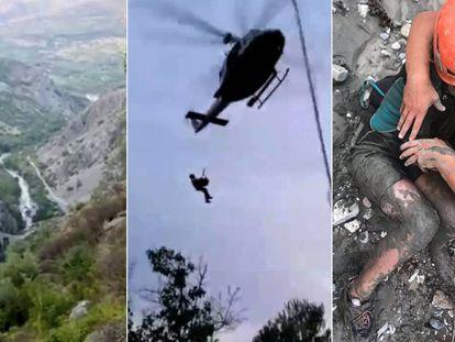 Helicóptero das equipes de resgate