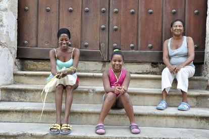 A família Cabarrocas em Havana.
