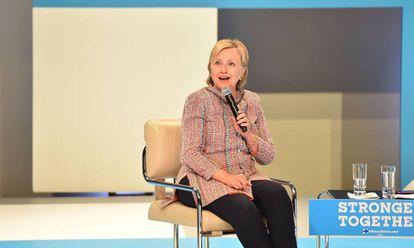 Clinton participa de evento de campanha.
