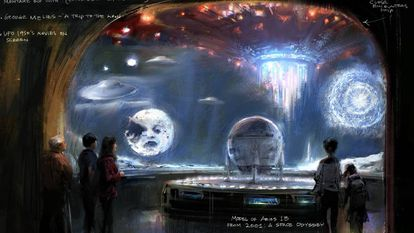 Projeto de uma das salas do futuro museu da Academia em Los Angeles