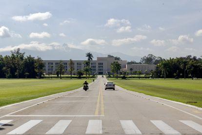 Entrada da Academia Militar das Agulhas Negras (AMAN), em Resende (RJ), no dia 24 de junho de 2021.