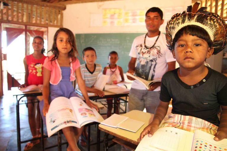 Escola na comunidade indígena xacriabá, no Norte de Minas Gerais