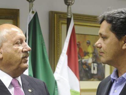 Luiz Henrique e Ricardo Ferraço, no Senado.
