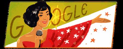 Doodle em homenagem a Elizeth Cardoso.