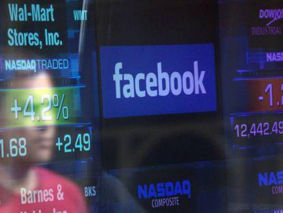 Cotação do Facebook na Nasdaq.