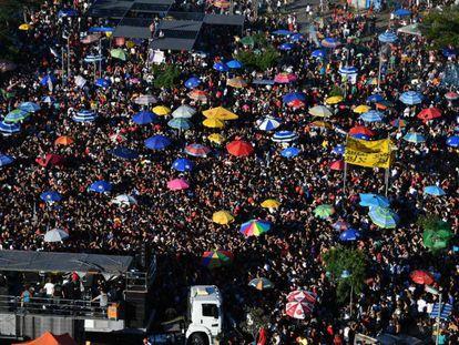 Manifestação pelas 'Diretas Já', neste domingo.