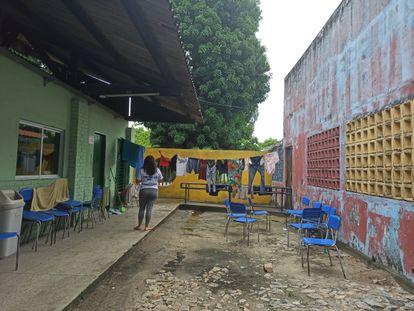 Escola ocupada durante greve de policiais no Ceará.