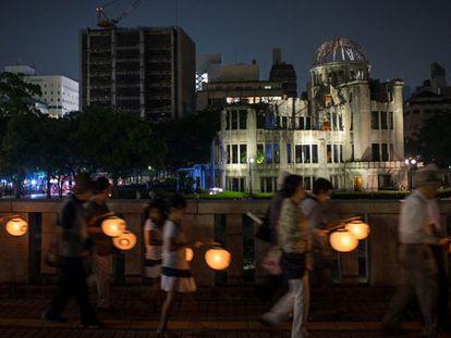 Homenagem às vítimas em Hiroshima.