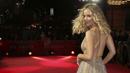 Jennifer Lawrence, na estreia de 'Operação Red Sparrow', em Londres, em 2018.