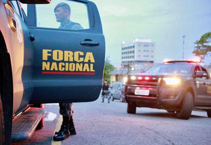 Membro da Força Nacional em Fortaleza no dia 21.