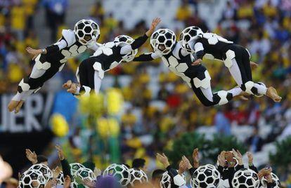 Festa de abertura do Mundial.
