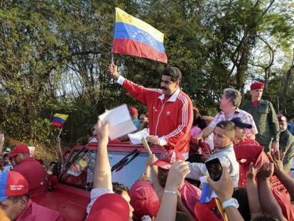 O presidente Maduro em um ato nesta quinta-feira.