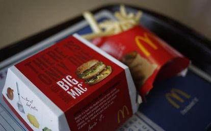 Um Big Mac, o principal sanduíche do McDonald's