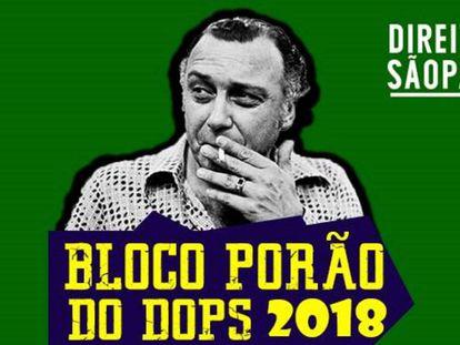 Sérgio Paranhos Fleury, delegado do Dops, em uma foto de divulgação do bloco