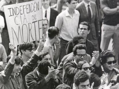Manifestação no Rio de Janeiro em junho de 1968.