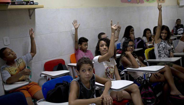 Estudantes de uma escola pública no Rio de Janeiro.