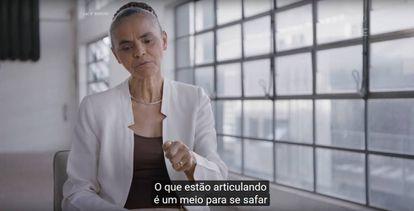 Marina Silva no programa eleitoral da Rede.