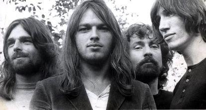 Pink Floyd: Rick Wright, David Gilmour, Nick Mason e Roger Waters.