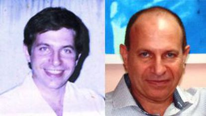Na esquerda, Sarraff com 32 anos, antes de ser preso, e à direita em imagen sem datar cedida pela família.