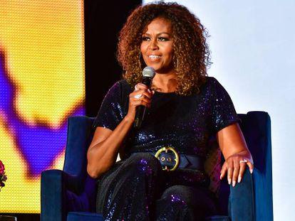 Michelle Obama durante conferência em Nova Orleans.