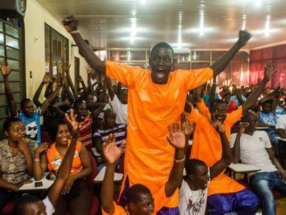 Senegaleses entre os imigrantes ilegais no abrigo em Rio Branco.