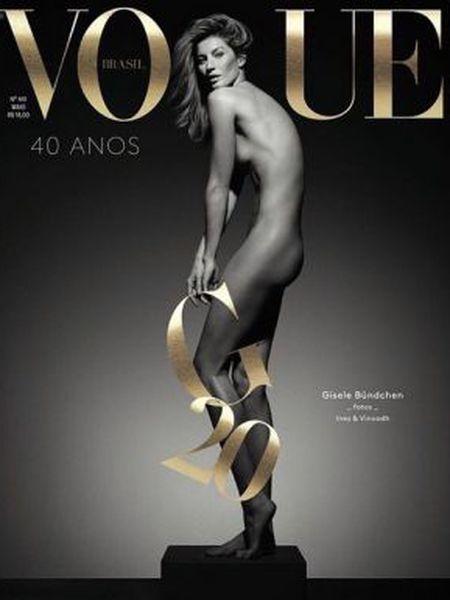 Gisele Bündchen na capa da 'Vogue Brasil'.