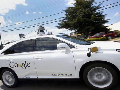 Um dos carros não tripulados do Google. Tony Avelar AP