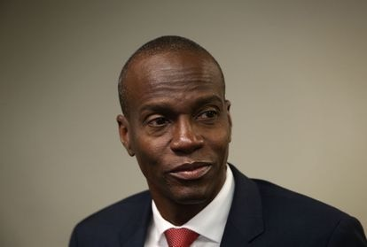 Jovenel Moïse em Washington, em 20 de abril de 2016, enquanto ainda era candidato à presidência do Haiti.