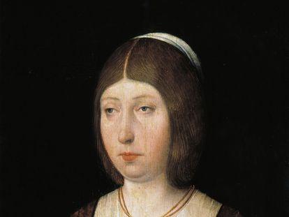 Retrato de Isabel, a Católica, de autor anônimo, que está no Museu do Prado. O quadro foi feito por volta de 1490, época em que já tinha Sancho Paredes de Guzmán a seu serviço