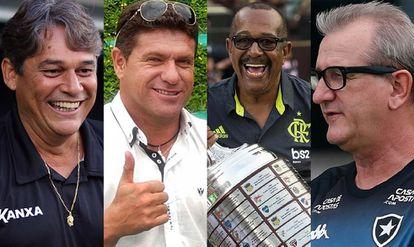 Marcelo Veiga, Cleber Arado, Jorginho e Renê Weber: vítimas do coronavírus no meio futebolístico.