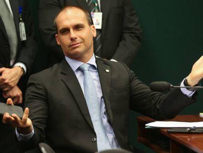 O deputado reeleito Eduardo Bolsonaro.
