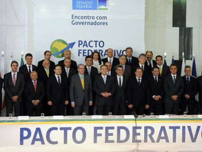 Líderes do Congresso e governadores.