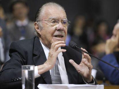 O ex-presidente José Sarney, no Senado, em maio.
