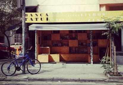 A Banca Tatuí, que vende livros independentes.