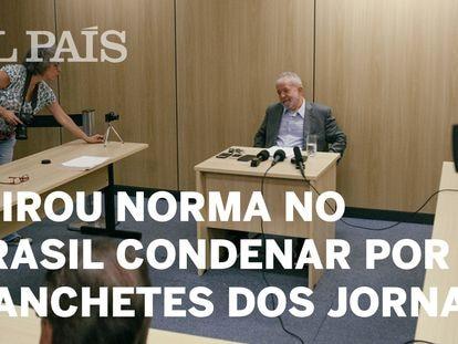 Lula em sua primeira entrevista desde a prisão.