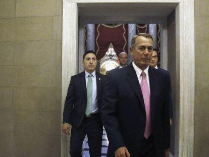 Boehner, esta terça-feira no Capitólio.