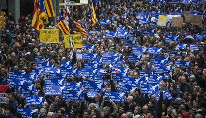Manifestação a favor da acolhida dos refugiados
