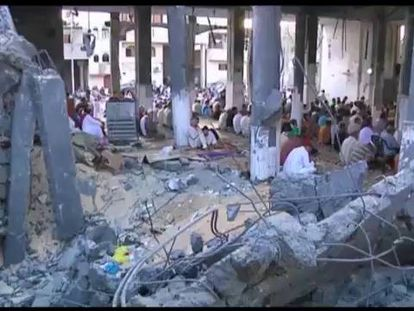 A ofensiva e o bloqueio israelense tornam amargo o fim do Ramadã