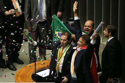 Paulinho da Força na votação do impeachment.