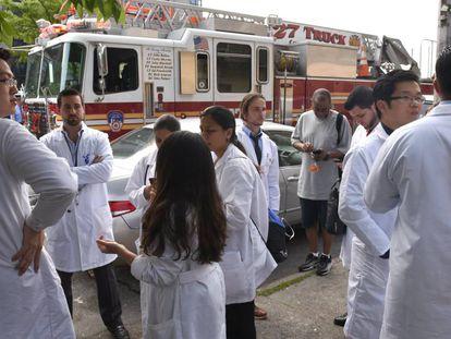 Equipe médica do hospital