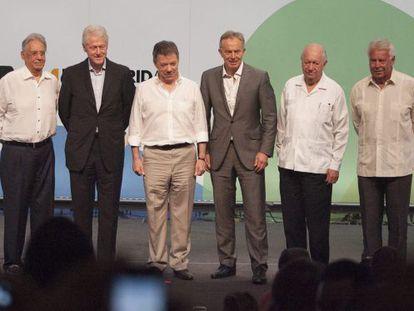 Santos e os ex-presidentes que participaram da Terceira Via.