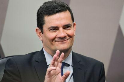 O ministro da Justiça, Sergio Moro, em audiência no Senado em junho para falar de conversas vazadas na Lava Jato.