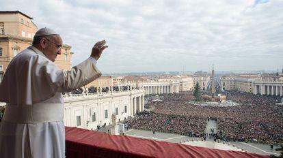 O Papa, na celebração do Natal.