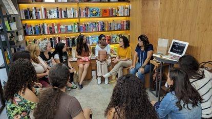 Encontro de leitoras que assinam a TAG Inéditos, em 29 de junho, na Livraria do Comendador, em São Paulo.