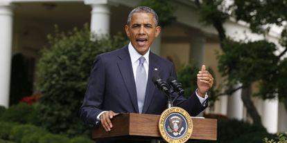 O presidente Barack Obama, em pronunciamento nesta segunda-feira.