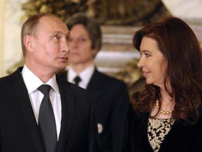 Putin y Fernández, em Buenos Aires.