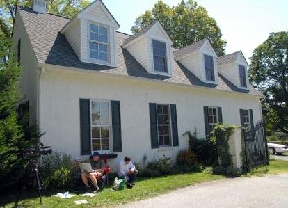Fachada da casa de Joe Biden em Greenville, Delaware, uma das mansões georgianas onde o presidente-eleito dos Estados Unidos gosta de investir.