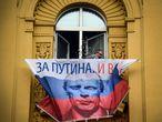 A parede do apartamento do presidente russo Vladimir Putin