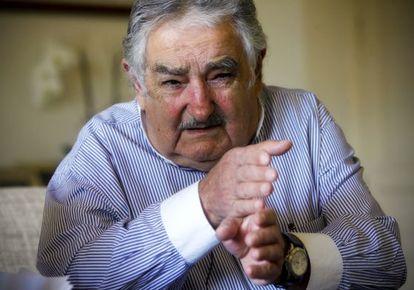 O presidente uruguaio, José Mujica, em uma entrevista.